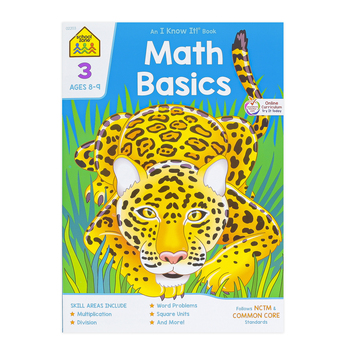 School Zone, Math Basics 3 Deluxe Edition Workbook, Paperback, 64 Pages, Grade 3