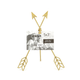 Green Tree Gallery, Crossed Arrow Clip Frame, Metal, Gold, 8 1/2 x 11 inches