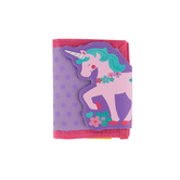 Stephen Joseph, Unicorn Bi-Fold Wallet, Ages 3 to 6 Years Old, 7 x 4 1/2 inches