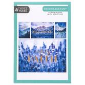 ThreeRoses, Blue Nature Photo Encouragement Cards, 12 Count