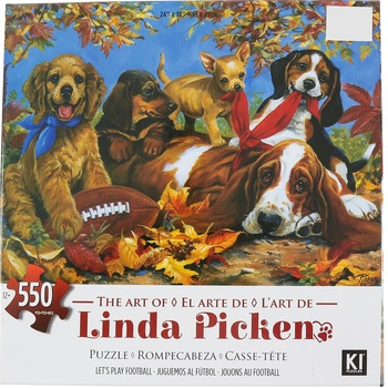 Karmin International, Let's Play Football Jigsaw Puzzle, 550 Pieces, 24 x 18 inches Completed