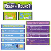 Carson Dellosa, Rounding Numbers Mini Bulletin Board Set, STEM Math, 12 Pieces