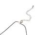 Glitter and Grace, It's Nacho Day Satan Cord Necklace, Orange/Black/Silver, 16 inch Cord