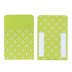 Isabella Collection, Self-Adhesive Library Pockets, Lime and White Starburst Design, 3.5 x 5.25 Inches, Pack of 25