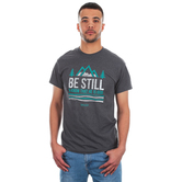 Kerusso, Psalm 46:10, Be Still & Know That He Is God, Men's Short Sleeve T-Shirt, Charcoal, S-3XL