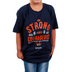 Kerusso, Joshua 1:9, Be Strong & Courageous, Kid's Short Sleeve T-Shirt, Navy, Small