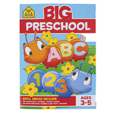 School Zone, Big Preschool Workbook, Paperback, 319 Pages, Ages 3-5