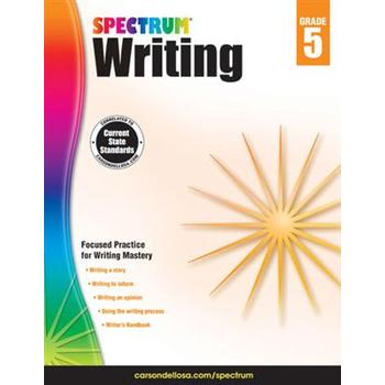 Carson-Dellosa, Spectrum Writing Workbook Grade 5, Paperback, 136 Pages, Ages 10-11