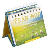 DaySpring, Fear Not Perpetual Calendar, Paper, 5 1/2 x 5 1/4 x 1 1/4 inches