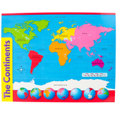 Trend, Anchor Chart: The Continents, Science STEM, 17 x 22 Inches, Grades 1-9