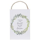 Open Road Brands, I'll Hold You In My Heart Wall Plaque, MDF, White, 4 x 6 inches