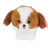 Aurora, Shih Tzu Teddy Pet Stuffed Animal, White & Brown, 7 inches