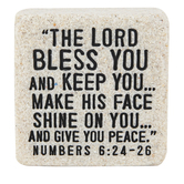 LCP Gifts, Numbers 6:24-26 The Lord Bless You Scripture Stone, 2 1/4 x 2 1/4 inches
