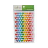 Renewing Minds, Smiley Hearts Mini Incentive Stickers, Assorted Colors, Pack of 1050