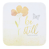 Legacy Publishing Group, Be Still Coaster, Peach, 3 3/4 x 3 3/4 Inches