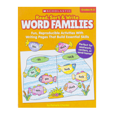 Scholastic, Read Sort and Write Word Families Activity Book, Paperback, 64 Pages, Grades K-2