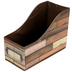 Teacher Created Resources, Reclaimed Wood Book Bin, Brown, 5 x 8 x 11 inches