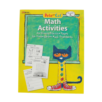 Edupress, Pete the Cat Math Activities Workbook, Paperback, 48 Pages, Grade K