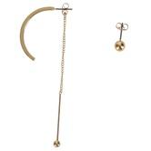 Modern Grace, Psalm 57:10 Hoop with Ball Dangling Earring Set, Zinc Alloy, Gold, Set of 2