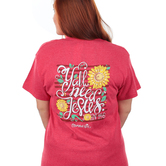 Cherished Girl, John 14:6 Y'all Need Jesus, Short Sleeve T-Shirt, Red Heather, S-3XL