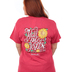 Cherished Girl, John 14:6 Y'all Need Jesus, Short Sleeve T-Shirt, Red Heather, Small