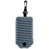 Striped Dot Tote Bag, Green & White, 15 x 16 1/4 inches