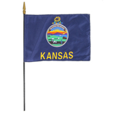 Annin Flagmakers, Kansas State Flag, Polyester, 8 x 12 inches