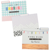 Farmhouse Lane Collection, File Folders, 3 Assorted Designs, Multi-Colored, 12 Count