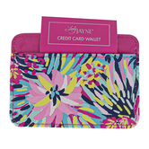 Lady Jayne, Vibrant Floral Credit Card Wallet, Soft, Fuchsia, Blue, Yellow, Navy, Pink