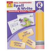 Evan-Moor, Skill Sharpeners Spell & Write Activity Book, Paperback, 144 Pages, Grade Pre K