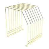 Fiddlestix Paperie, Wire File Organizer, Metal, Gold-tone, 8 1/4 x 7 1/4 x 6 inches