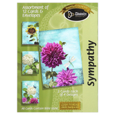 Divinity Boutique, Garden Flowers Sympathy Boxed Cards, 12 Cards with Envelopes