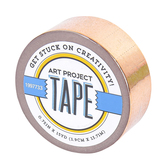 Rose Gold Metallic Art Project Mini Washi Tape, 3/4 inches x 5 yards, 1 Roll