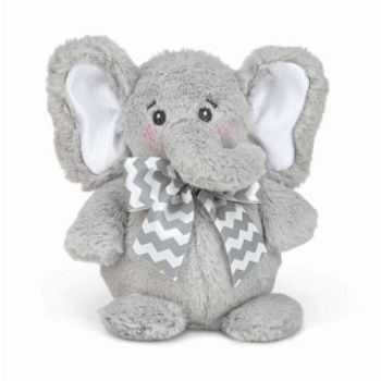 Plush Toy, Tiny the Elephant Lil' Spout, by Bearington Collection, Gray, 7 inches