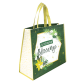 Renewing Faith, Christmas Blessings Reusable Tote Bag, Jumbo, 19 x 16 x 7 1/2 inches