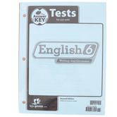 BJU Press, English 6 Tests Answer Key, 2nd Edition, Paper, Grade 6