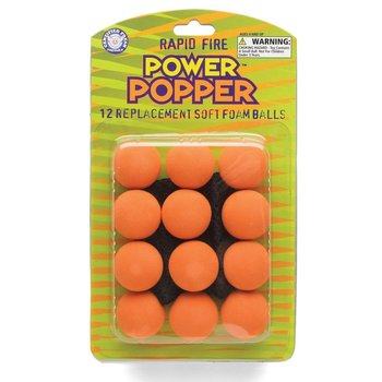 Hog Wild Toys, Power Popper Refill Balls, Ages 4 years and Older, 12 Foam Balls