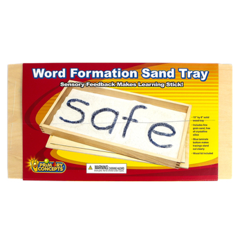 Primary Concepts, Word Formation Sand Tray with Sand, 15 x 8 Inches, Grades PreK-2, 2 Pieces