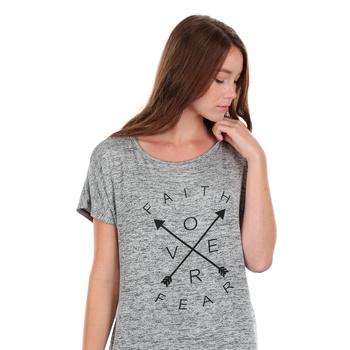 NOTW, Faith Over Fear, Women's Dolman Sleeve Fashion Top, Black and White, XS-2XL