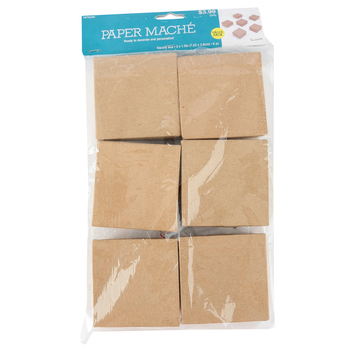 Paper Mache Square Box Set with Removable Lids, Small 3 x 1.5-Inches, Value Pack, Grades PreK-Adult