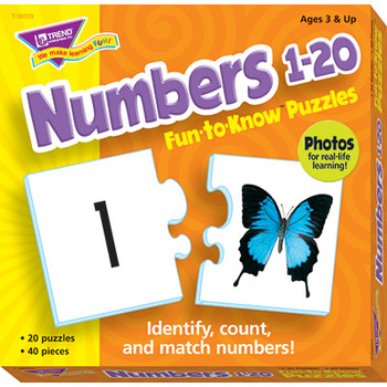 Trend, Numbers 1 to 20 Fun To Know Puzzle
