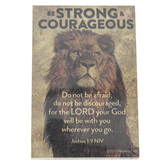 Renewing Faith, Joshua 1:9 Be Strong & Courageous Pass Along Cards, 2 x 3 inches, Set of 10