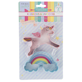 Handstand Kitchen, Rainbows & Unicorns Cookie Cutter Set, 2 Pieces, Ages 6 & Older