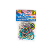 Toner Craft, Split Rings, Assorted Colorful Findings, 80 pieces