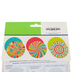 TooCute Collection, Double-Sided Accent Paper Fans, 6 x 6 Inches, 3 Designs, Set of 9