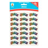Carson-Dellosa, Jesus Dazzle Shape Stickers, 1 x .50 Inch, Multi-Colored, Pack of 84
