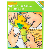 McDonald Publishing Outline Maps The World, Teacher Reproducible, Paperback, 24 Pages, Grades 6-9