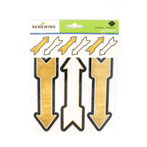 Glimmer of Gold Collection, Large Arrow Cutouts, Black and Gold, 36 Pieces