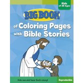 Big Book of Coloring Pages with Bible Stories for Kids of All Ages by David C Cook, Paperback, 256 Pages