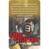 A Caring Heart Pocket Card - Firefighter
